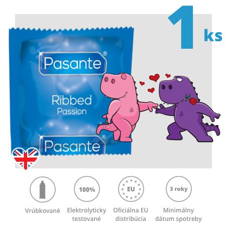 Pasante Ribbed / Passion  1ks