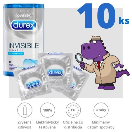 Durex Invisible Extra Thin Extra Sensitive 10ks